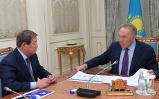 Meeting with Akhmetzhan Yesimov, Chairman of Samruk-Kazyna JSC Board