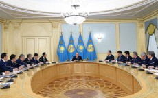Meeting with governors of the regions and mayors of Astana and Almaty