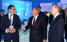 Visiting the exhibition as part of XIV Forum of Interregional Cooperation of Kazakhstan and Russia