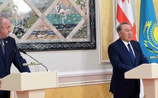 Briefing for media following the official visit of the Georgian President Giorgi Margvelashvili