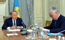Meeting with the Minister of Defense and Aerospace Industry Beibut Atamkulov