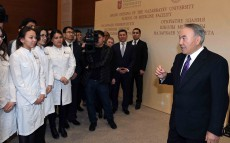 Visit to the School of Medicine's new building at Nazarbayev University