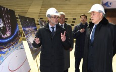 Nursultan Nazarbayev visits Ice Arena in Almaty